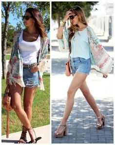 I love the style of these cardigans. printed tassel cardigan