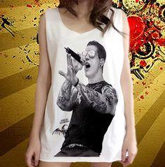 Avenged Sevenfold Hardcore Punk M Shadows Music Band Unisex Art Vest shirt Tank Top Free Size. ฿400.00, via Etsy.
