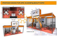 Corner Booth, Exhibition Stall Design, Beauty Expo, Modular Design, Booth Ideas, Pavilion, Exhibition Stands, Exhibitions, Kiosk