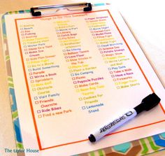 summer bucket list. Like this method, this is how we're doing our summer fun list this year :)