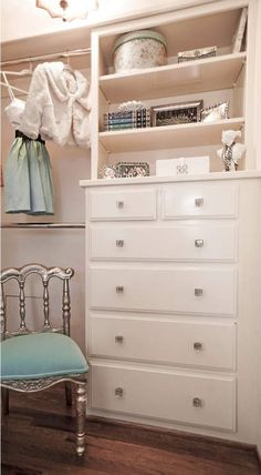 Exactly what i want for built in dresser Master Closet, Closet Bedroom, Bedroom Storage, Home Bedroom, Bedroom Decor, Bedrooms, Diy Storage, Master Bedroom, Dresser In Closet