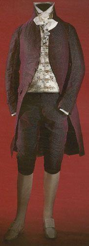 Red Formal Velvet Suit, c. 1805-10