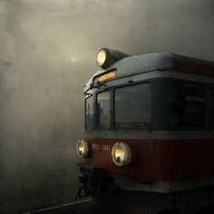 Train to Wroclaw.  I'm repinning this into my Places I'd Like To Go.  Can't say that I know Wroclaw but I can say I love trains, I love old, and I love haunting.  So, I'd love to go into this image - what might my story be????