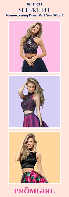 Sherri Hill is an accomplished designer of dresses for all your high school events. Find your dream Sherri Hill Homecoming dress today plus get FREE U.S. Ground Shipping! In business for over 16 years PromGirl is the LARGEST online retailer for formal wear dresses. We have your dream dress IN-STOCK - shop today!