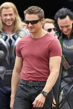 Jeremy Renner.  What's so funny, Thor and Loki?  <3