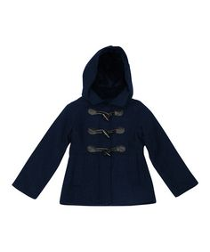 Look what I found on #zulily! Navy Toggle Coat - Toddler & Girls by Pink Platinum #zulilyfinds