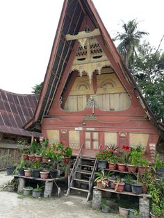 Traditional house of Tomok in Samosir Island, Indonesia