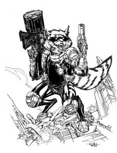 Rocket Raccoon by SpiderGuile on deviantART