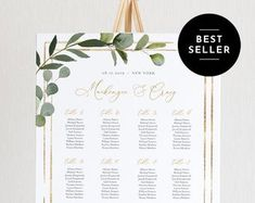 Seating Chart Template Editable Wedding Seating Chart | Etsy Table Seating Chart, Seating Chart Wedding Template, Seating Cards, Wedding Templates, Menu Template, Menu Cards, Table Cards, Digital Invitations, Invitation Set