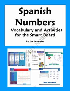 Spanish Numbers Vocabulary, Games and Activities NOTEBOOK from Sue Summers on TeachersNotebook.com (13 pages)  - Spanish Numbers Vocabulary, Games and Activities NOTEBOOK