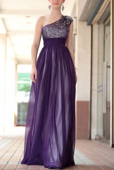 Mother of the Bride Left one shoulder transparent purple tulle mother of the brides dresses with sequins on Etsy, $129.50