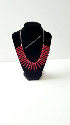 Hey, I found this really awesome Etsy listing at https://www.etsy.com/listing/278487960/red-necklace-turquoise-necklace