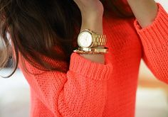 I Absolutely LOVE the bright sweater with the watch.