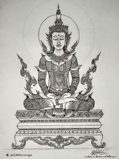 Scary Drawings, Forarm Tattoos, Thai Art, Buddhist Art, Religious Art, Identity, Style, Creepy Drawings, Swag