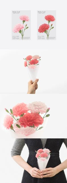 """Thank you"" is the most powerful words that touches everyone's heart! The Carnation Sticky Note is the most smart and lovely way to show your appreciation."