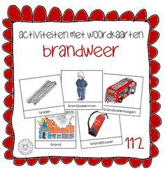 Kleuterjuf in een kleuterklas: Activiteiten met woordkaarten | Thema 112 BRANDWEER