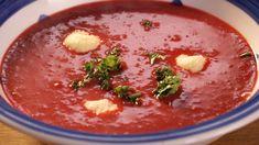 Polévka zčervené řepy skřenovými knedlíčky — Recepty — Kouzelné bylinky — Česká televize