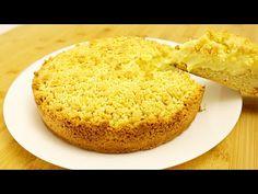Písek Koláč s Pudink Krém. Rychle koláč na Mám trochu čaje. - YouTube Cake Factory, Sweet Cakes, What To Cook, Biscotti, Custard, Cornbread, Vanilla Cake, Pineapple, Deserts