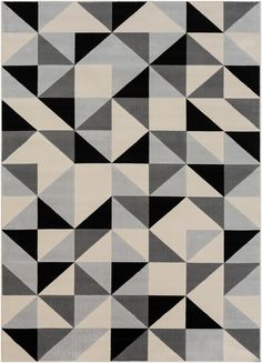 """Collection: Calvin, Colors: Black/Beige/Light Gray/Taupe, Construction: Machine Woven, Material: 100% Polypropylene, Pile: Medium Pile, Pile Height: 0.30"""", Style: Modern, Made in: Turkey Modern Decor, Mid-century Modern, Contemporary, Black Rug, Black And Grey, Gray, Color Black, City Rugs, 8x10 Area Rugs"""