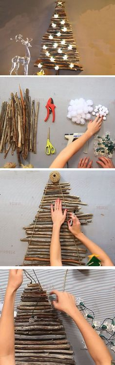 Branch Tree   25+ DIY Christmas Decor Ideas for the Home