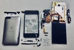 old iPod deconstructed