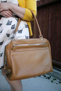 Camel Hogan Handbag