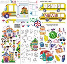 Free printable worksheets. TeachersMag.com Sorting Activities, Preschool Themes, Preschool Lessons, Activities For Kids, Learning Activities, Animal Worksheets, Free Printable Worksheets, Preschool Worksheets, Free Printables