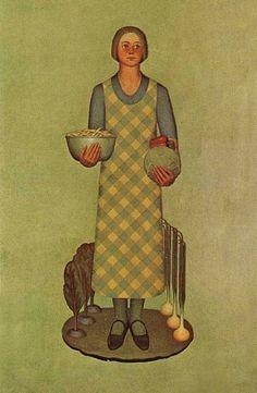 1932 Grant Wood (American regionalist artist, 1891-1942) Iowa's Product