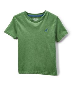 Green V-Neck Tee - Boys