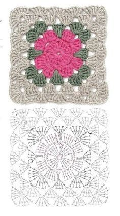 Transcendent Crochet a Solid Granny Square Ideas. Inconceivable Crochet a Solid Granny Square Ideas. Motifs Granny Square, Crochet Square Blanket, Crochet Blocks, Granny Square Crochet Pattern, Crochet Diagram, Crochet Chart, Crochet Squares, Crochet Granny, Granny Squares