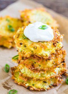 Cheesy Potato Pancakes. Delicately crispy crust + pillowy soft inside + ooey gooey cheese filling = DELICIOUS cheesy potato pancakes!