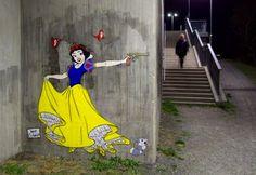 Disney Princesses in a Dark Alley