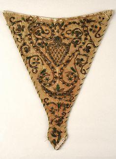 Stomacher Date: late 18th century Culture: German Medium: silk, cotton Accession Number: 09.50.1144