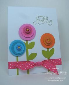 Cute lollipop flowers card