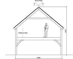 Upper Floor Oak Building With Vertical Extension Diagram