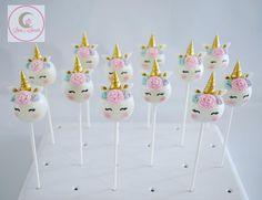 Unicorn cake pops in funfetti rainbow fun inside and out! ✨