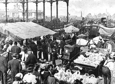 Islington Market (1904) with the Metropolitan Cattle market (1855) behind at left.