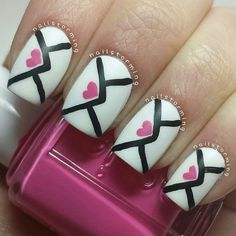 Love letter nails.