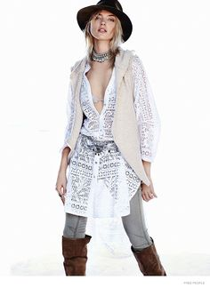 Free People white crochet lace buttondown oversize Maxi tunic top jacket NWT S Free People Clothing, Clothes For Women, Boho Fashion, Autumn Fashion, 70s Inspired Fashion, Relaxed Outfit, Martha Hunt, Fashion Lookbook, Bohemian Style