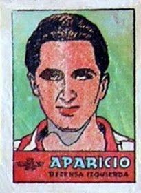 Aparicio. Atlético de Madrid. 1941-42. Cromos Bruguera. Defensa izquierdo titular.