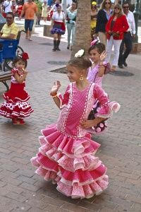 Beautiful flamenco dresses, Fiesta Nerja