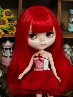 "Takara 12"" Neo Blythe Doll Red Hair Perfect Nude Factory Doll 