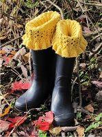 Ruffled Climbing Eyelet Boot Sock, Liner, and Cuff Knitting Pattern Download