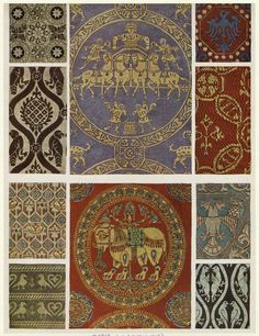 This is the Byzantine Textiles, which were elaborated, weaved, and were used as very detailed decorations and art.