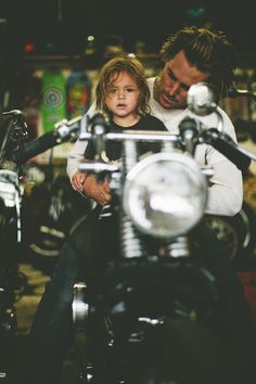 Just give me a man who loves a motorbike and then makes a cute baby with me whom he loves even more.