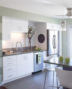 Kitchen Layouts: 10 Single Wall Kitchen Inspirations | eatwell101.com