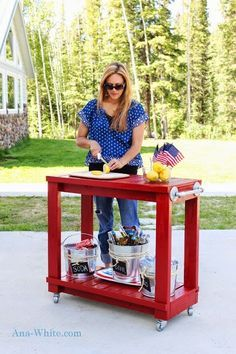 Ana White | Build a Simple Rolling Bar Cart | Free and Easy DIY Project and Furniture Plans