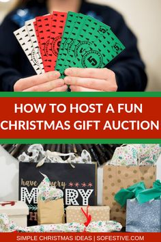 Christmas Party Ideas For Teens - How to Do A Christmas Party Gift Auction-White Elephant Party Game! Christmas Gift Exchange Games, Fun Christmas Party Games, Xmas Games, Christmas Party Ideas For Teens, Christmas Games For Family, Christmas Activities, Diy Christmas Gifts, Kids Christmas, Holiday Fun
