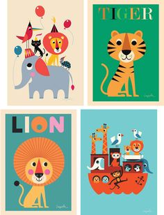 Feast your eyes on these beautiful posters for little rooms. Every child's room should have some nice art and these fun prints are a great addition. Precious Little Things has a whole range of posters with an assortment of colors.