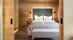 The Hotel Gitschberg in Meransen in South Tyrol is a boutique hotel in the middle of the mountain with a perfect location for skiing and hiking. Hay Barn, South Tyrol, A Boutique, Italy, Rustic, Architecture, Bed, Interior, Furniture